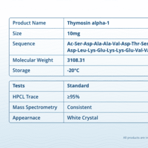 Thymosin Alpha 1 – 10mg Peptide Vial